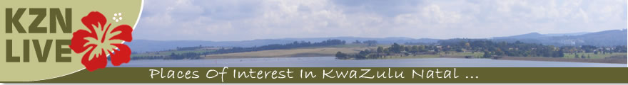 Banner showing Kznlive logo and displaying photographs from the region of KwaZulu Natal
