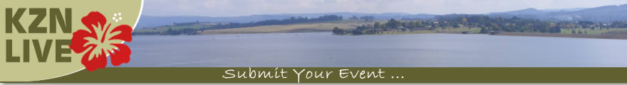 Banner displaying photograph of Midmar Dam in the KwaZulu Natal Region