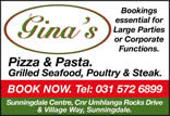 Gina's Pizza and Pasta Restaurant